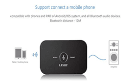 LESHP - 2-in-1 Bluetooth Receiver Transmitter