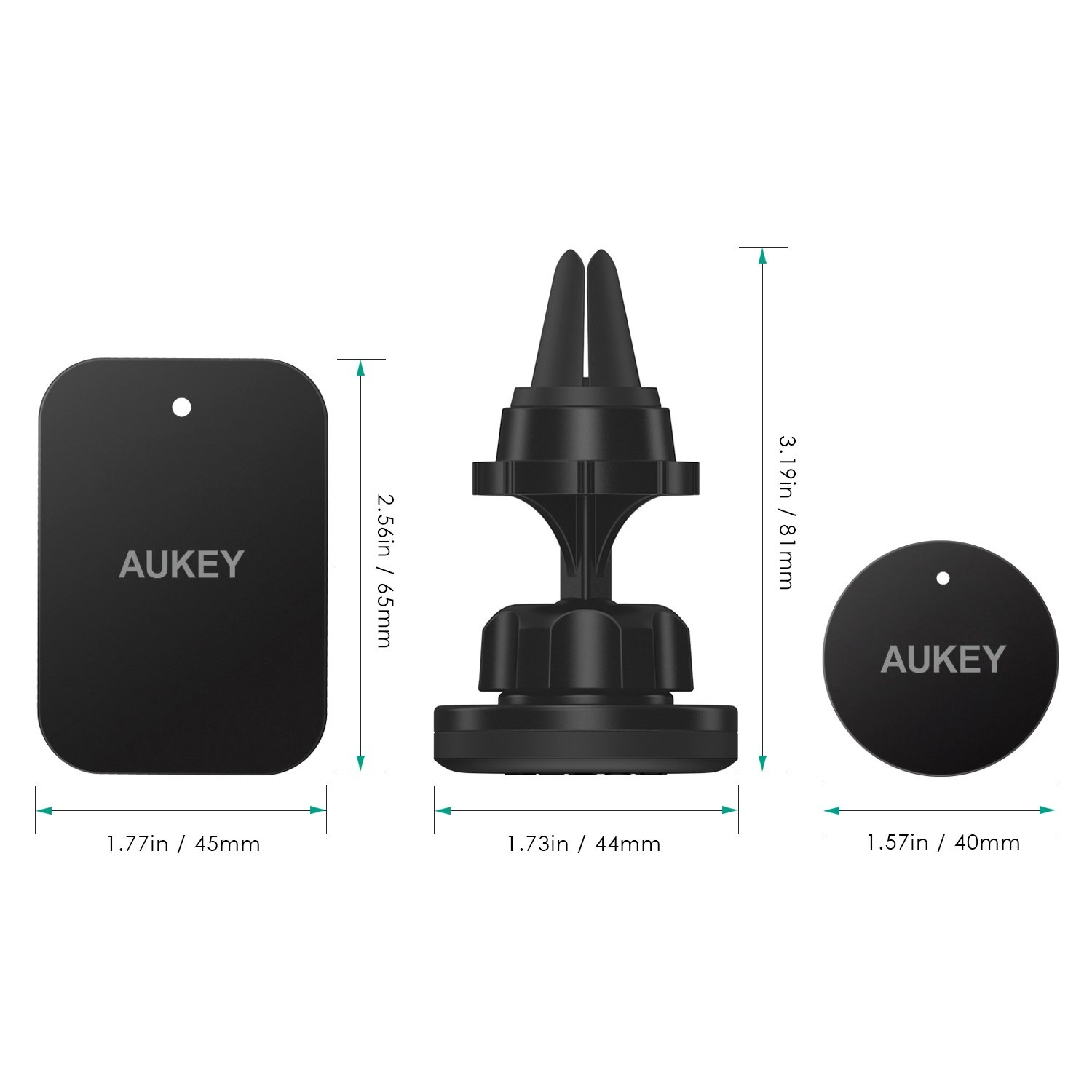 AUKEY Car Phone Holder Magnetic Air Vent 360° Rotatable Car Mount Cradle Universal for GPS, iPhone 7 / 6S / 6 / 5S / 5 , Samsung and Other Android , Windows Smartphones