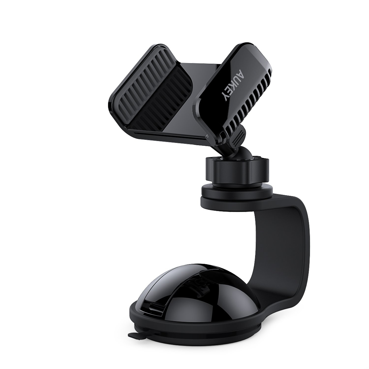 AUKEY Car Mount 360 Degree Rotating Windshield Dashboard Car Phone Holder Universal for GPS , iPhone 7 / 6 / 5 , Samsung and Other Android, Windows Smartphones