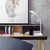AUKEY oplaadbare bureaulamp, LED-tafellamp met dimbaar RGB-basislicht en aanraakpaneel voor thuis en op kantoor