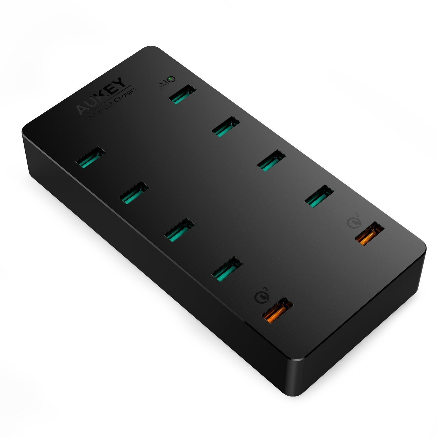 Aukey 10-Poort Oplaadstation met Quick Charge 3.0 - 70 Watt oplader - PA-T8