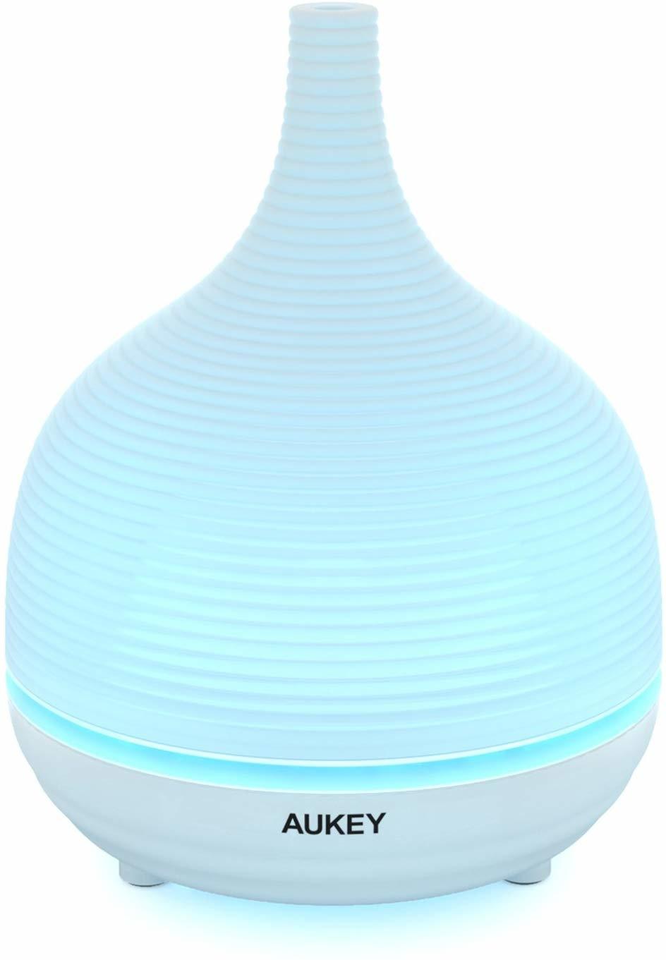 AUKEY etherische oliediffuser, 500 ml aromabevochtiger met 4 timerinstellingen, mistmodi en 7 kleuren veranderende led-verlichting