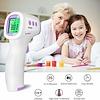 Hylogy digitale thermometer, voorhoofdthermometer met contactloze hoge temperatuur alarmfunctie voor meting van lichaam en oppervlak van objecten