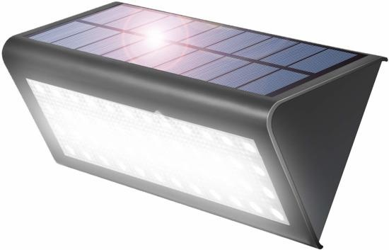 Aglaia Solar Lights Outdoor, Solar Garden Lights, Motion Detector With 38 LED Lights, IP65 Waterproof 4W Solar Light For Garden, Balcony, Terrace, Hallway, Stairs, Etc.