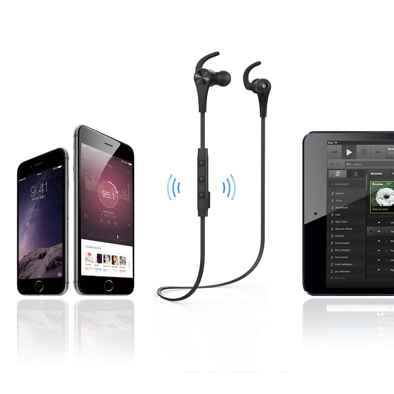 Aukey EP-B24 - koptelefoon Sport-oortelefoon (Bluetooth 4.1, microfoon) Kleur Zwart