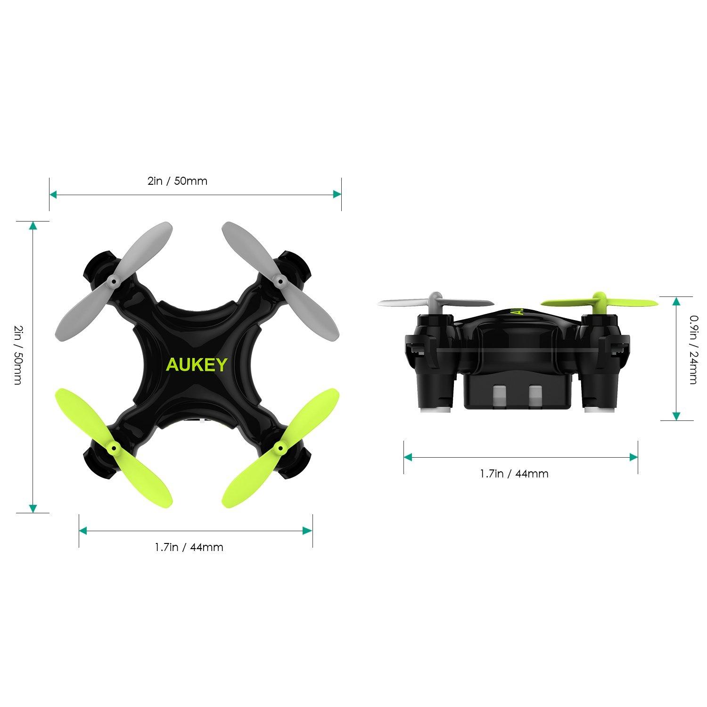 AUKEY Mini Quadcopter met Wi-Fi-bediening via app, One-Key Landing & Take-Off Quadcopter met G-sensor, Intelligente Hover met vaste hoogte, 3 snelheidsopties (UA-P01W, zwart)