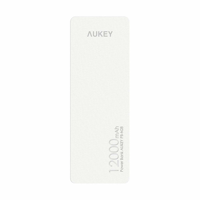 Aukey 12000mAh Dual USB Powerbank - Wit