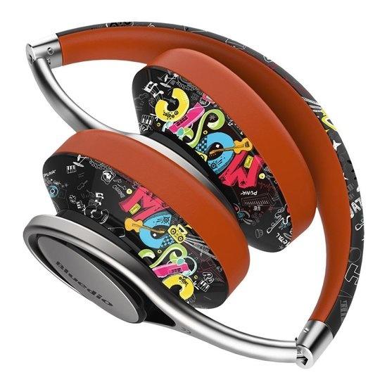 Bluedio A2 Opvouwbaar Over-Ear NICAM Sound HiFi Bluetooth V4.2 Hoofdtelefoon Oortelefoon met microfoon (Doodle)
