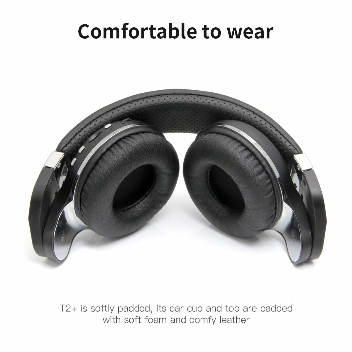 Bluedio T2VBCA01 T2 + (Turbine 2 plus) Bluetooth draadloze hoofdtelefoon met Micro SD / FM-radiofunctie