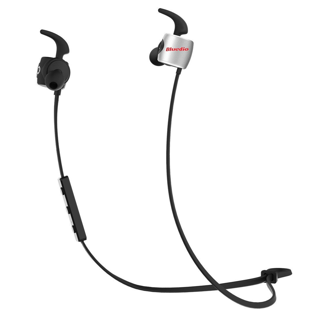 Bluedio TE (Turbine) Bluetooth 4.1 draadloze sporthoofdtelefoon, zweetbestendige hardloopoordopjes met microfoon (zwart)