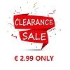 Clearance Sales 2.99 Only / Uitverkoop 2,99 per stuk
