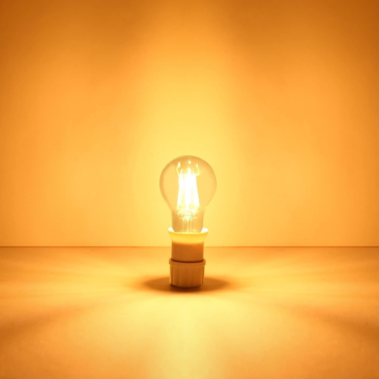 Pack of 192 Aglaia LT-B3 LED Super Bright Classic Filament Retro Glass Ball LED Light Bulb E27 Clear [Energy Class A++]