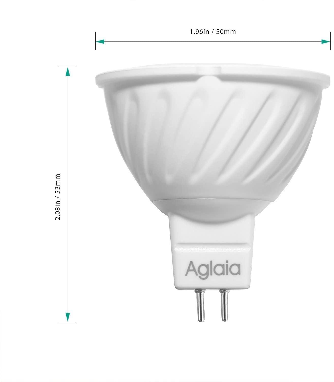 Aglaia MR16 LED-lampen GU5.3 6W, 42W gloeilampequivalent, LED-spots met 3000K warmwit en 470LM, verpakking van 4 stuks