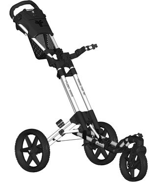 Fastfold 360 golftrolley - wit/zwart