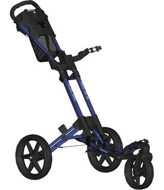 Fastfold 360 golftrolley - blauw/zwart