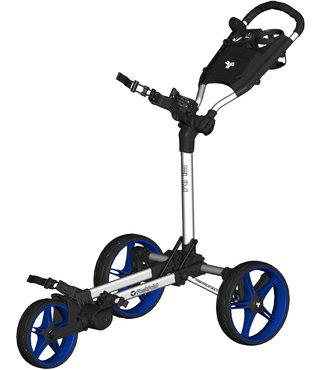 Fastfold Slim  golftrolley blauw/wit