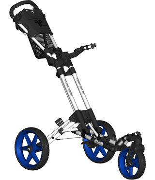 Fastfold 360 golftrolley wit/blauw