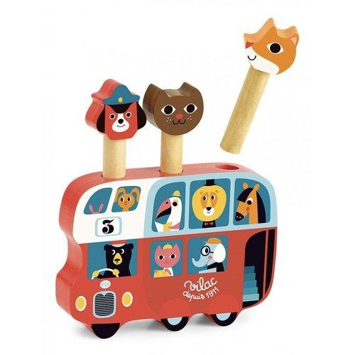 Vilac Pop-up bus game wood