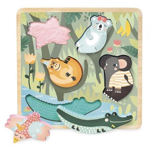 Vilac Wooden puzzle jungle