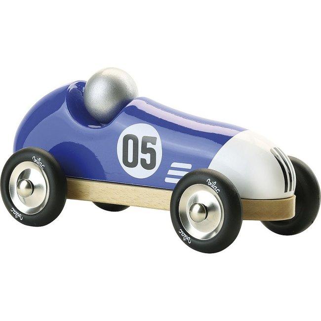 Vilac Vintage race auto hout blauw large
