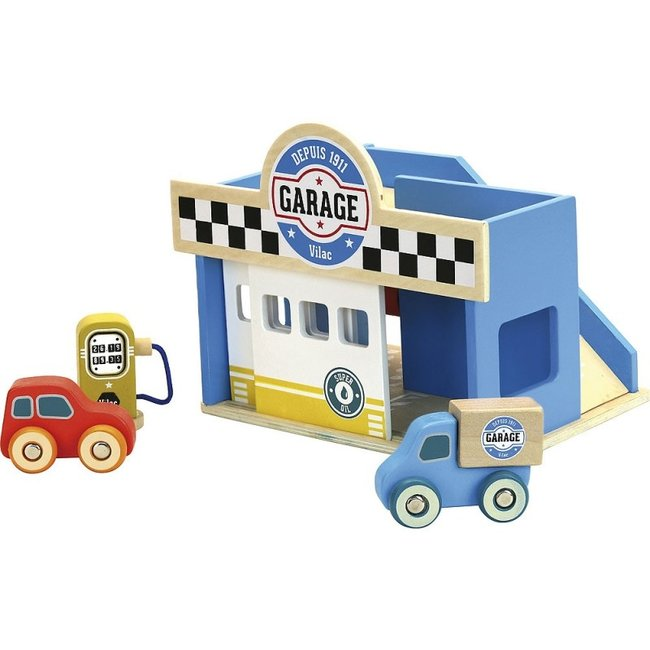 Vilac Garage Vilacity Holz blau