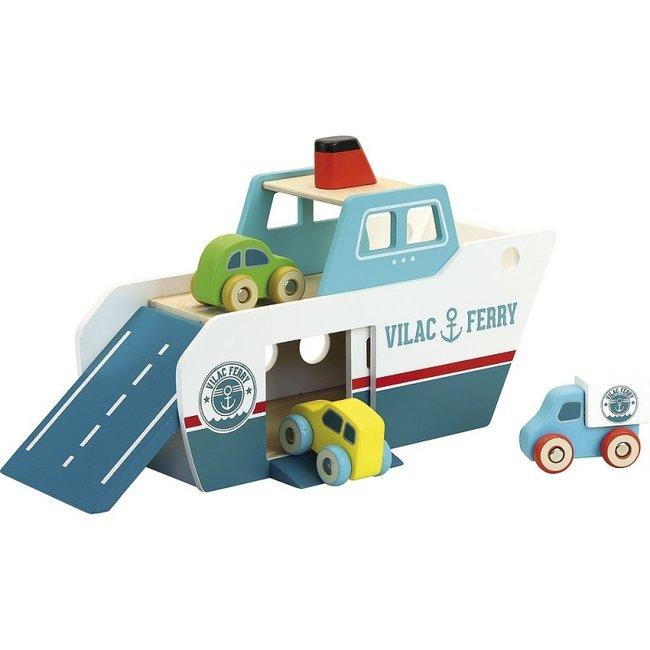 Vilac Ferry boot Vilacity hout blauw