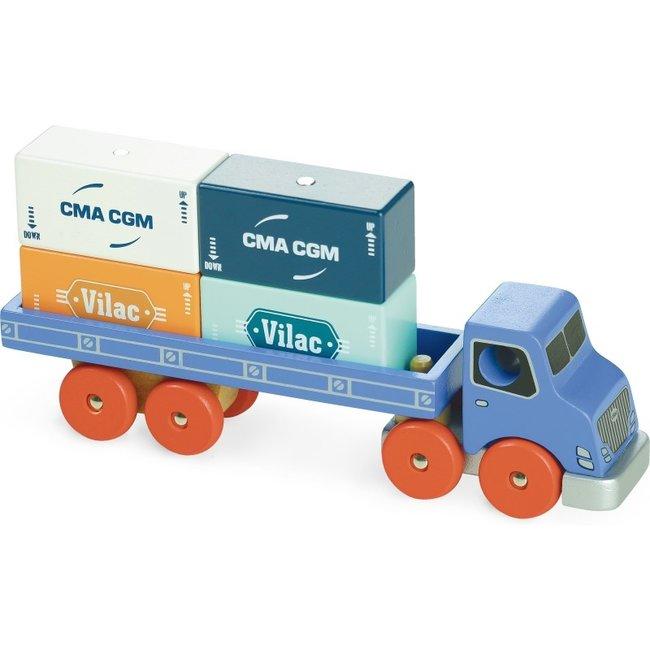 Vilac Vrachtwagen met containers Vilacity