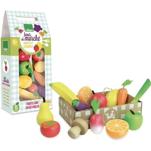 Vilac Fruits and vegetables in a crate