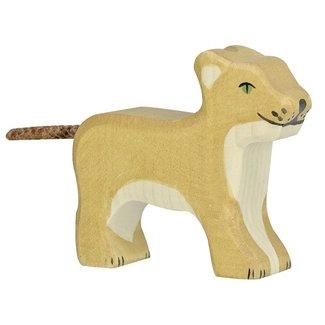 Holztiger Löwenjunges Stehend 80141 6 cm
