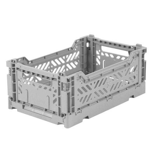 Ay-Kasa Folding Crate Mini Grey