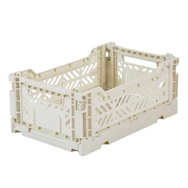 Ay-Kasa Folding Crate Mini Light Grey