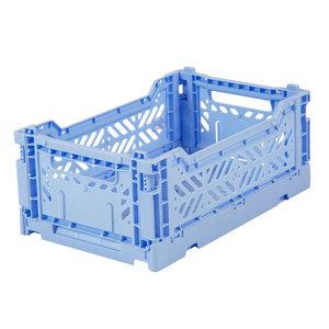 Ay-Kasa Folding Crate Mini Baby Blue