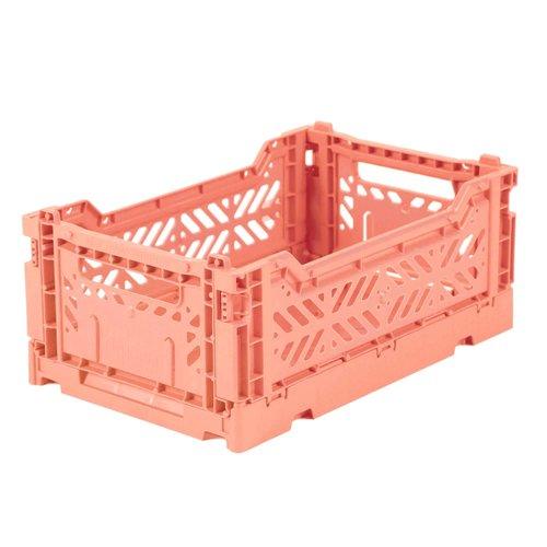 Ay-Kasa Folding Crate Mini Salmon Pink