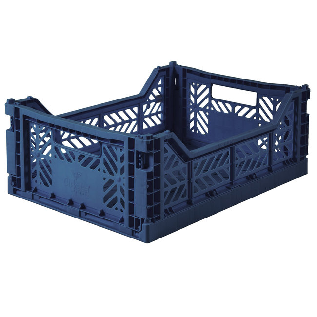 Ay-Kasa Folding Crate Midi Navy