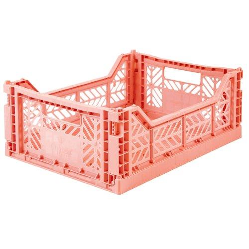 Ay-Kasa Folding Crate Midi Salmon Pink