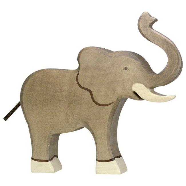 Holztiger Elefant Rüssel hoch 80148 18 cm