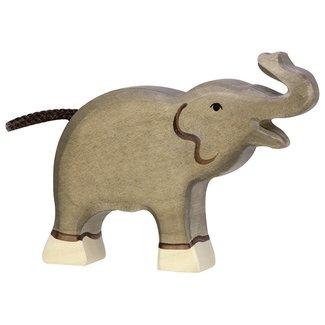 Holztiger Elefant klein Rüssel hoch 80150 12 cm