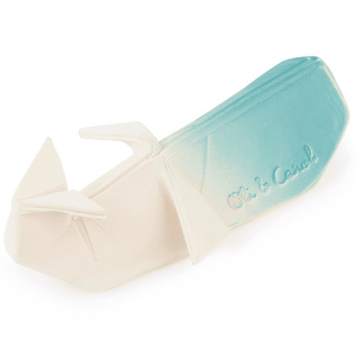 Oli & Carol Whale H2 Origami teething and bath toy