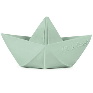 Oli & Carol Origami boat mint teething and bath toy