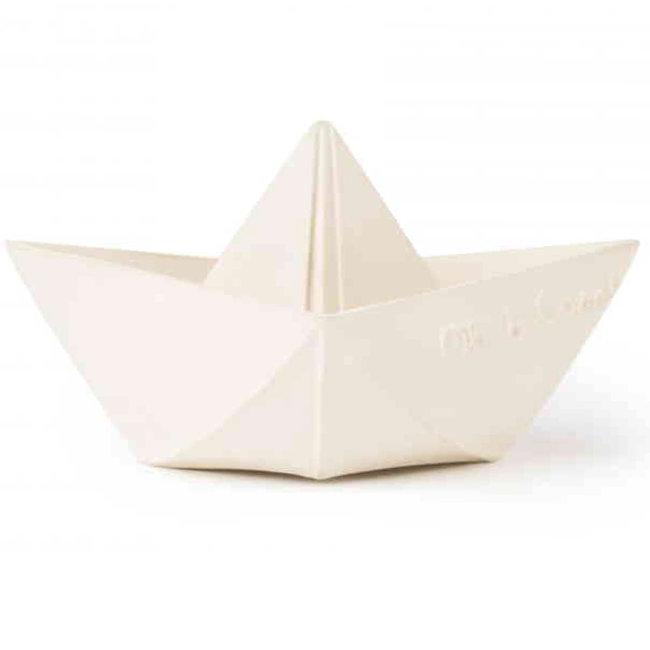 Oli & Carol Origami Boot Weiß Bad und Beißspielzeug