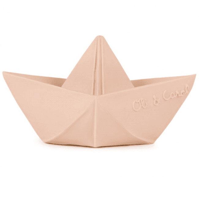 Oli & Carol Origami boot nude bad- en bijtspeeltje
