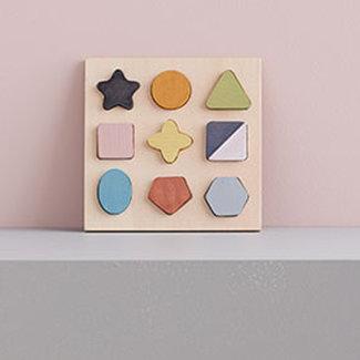 Kids Concept Houten puzzel geo