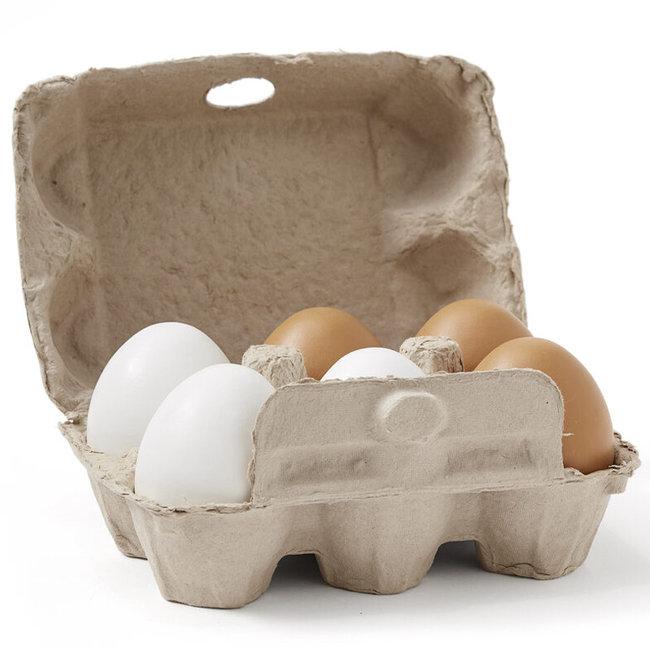 Kids Concept Spielzeug  Eier aus Holz Bistro