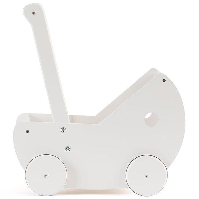 Kids Concept Puppenwagen mit Bettgarnitur weiß
