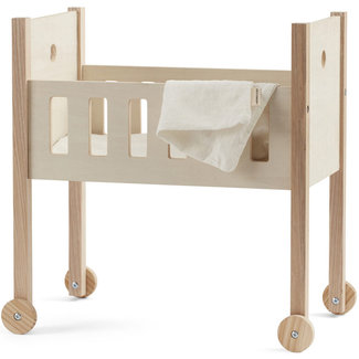 Kids Concept Poppenbed hout incl. lakens