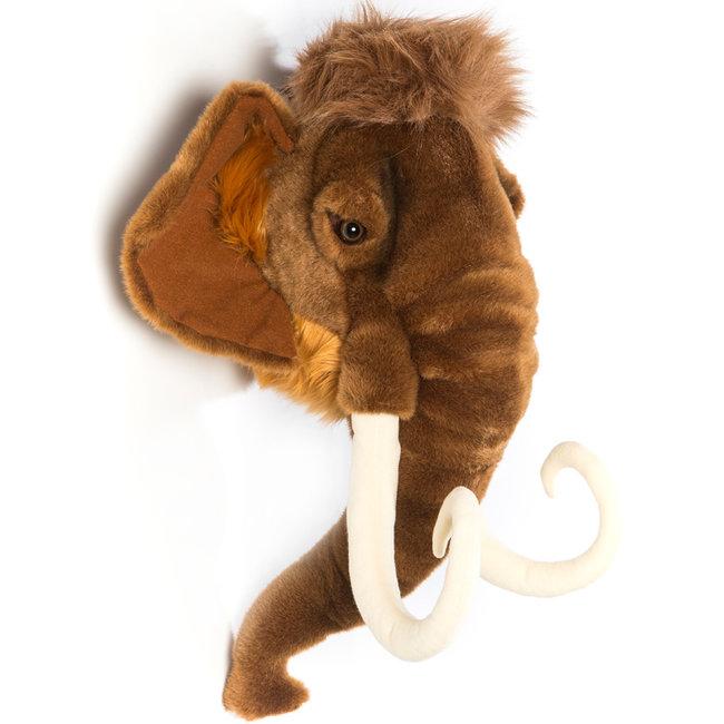 Wild and Soft Mammoet dierenkop pluche Arthur