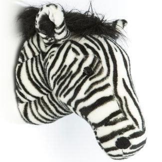 Wild and Soft Zebra dierenkop pluche Daniel