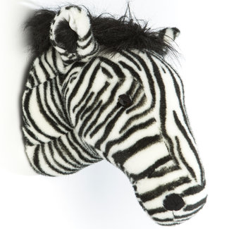 Wild and Soft Zebra Plüschtierkopf Daniel