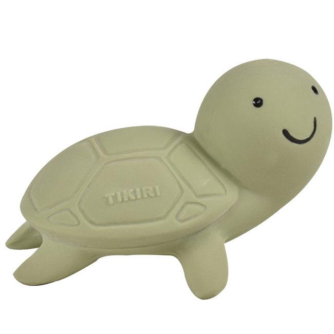 Tikiri Schildkröte Badspielzeug und Rassel Grün