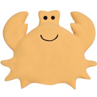 Tikiri Krabbe Badspielzeug und Rassel Gelb
